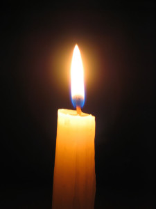 Meditation with candle